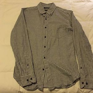 Banana Republic Luxe Flannel Grant Fit size S